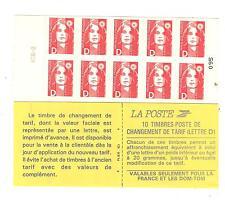 CARNET TYPE BRIAT D FRANC ROUGE N°2213C1 NEUF**