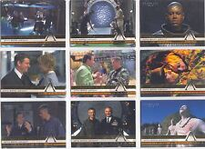 Stargate SG1 Season 6 Complete Behinds The Scenes Chase Card Set B1-B9