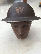 WW2 British Army Helmet Warden