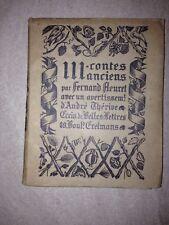 TROIS CONTES ANCIENS - FERNAND FLEURET - 1923