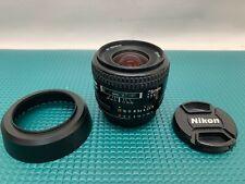 LEGEND NIKON AF 35mm F/2D STANDARD PRIME LENS FOR NIKON F MOUNT GREAT CONDITION
