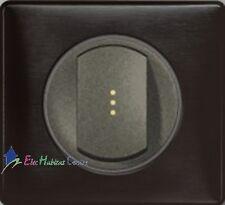Bouton poussoir lumineux Céliane carbone graphite 67031+67903+67686+80251+68981