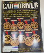 Car And Driver Magazine Ten Best Cars & Race Drivers January 1985 123014R2