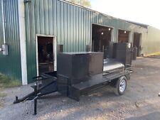 Start Bbq Business Reverse Plate Pro Pitmaster Smoker Grill Trailer Food Truck