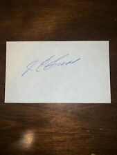 JC SNEAD - GOLFER - AUTOGRAPH SIGNED - INDEX CARD -AUTHENTIC - C127
