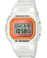 New G-Shock Men's Digital Frosted White Resin Strap Men' s Watch DW-5600LS-7D