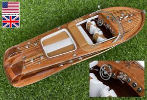 Riva Aquarama Modern Italian Fast Yacht Model Wooden Décor 21''