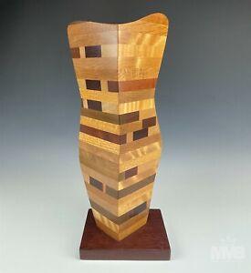 Paul LaMontagne Polished Exotic Hardwood Contemporary Signed Wood Sculpture ASZ
