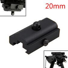 Black Bipod Sling Swivel Adapter Weaver Picatinny Rail Mount For Rifle Gun