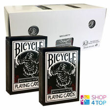 12 DECKS ELLUSIONIST BLACK TIGER RED PIPS BICYCLE PLAYING CARDS SEALED BOX CASE