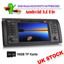 Android 9.0 DVD Head Unit BT DAB Radio Stereo GPS Sat Nav For BMW E39 X5 E53 M5