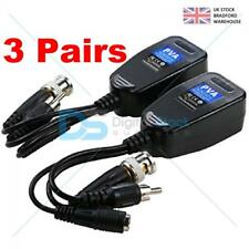 3x CCTV Passive Video Balun Power Audio HD-TVI/CVI/AHD/CVBS BNC to CAT5 RJ45