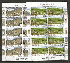 Cept / Europa   2012    Moldawien 2 Bogen     **