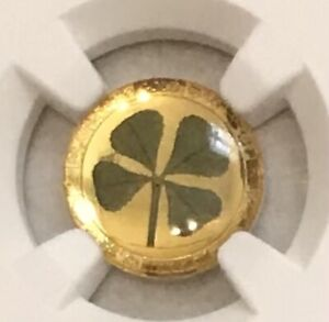 2021 Palau $1 Gold 4 Leaf Clover NGC PF 69 UC ER