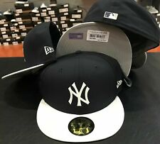 New Era cap 5950 New York Yankees Batting Practice BP Hat Fitted 59fifty Navy 8