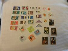 Lot of 34 Hungary Stamps, from 1960s, Roses, Sports, Astronauts, Art, More
