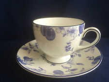 Wedgwood Blue Plum tea cup & saucer (second - paint specks)
