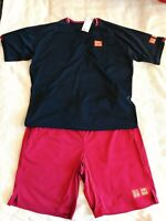 2020 Australian open UNIQLO Roger Federer RF Dry EX T-Shirt & Pants from Japan
