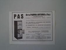 advertising Pubblicità 1936 PAS - DITTA PARMA ANTONIO E FIGLI - SARONNO