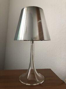 FLOS Miss K T Lampe  Transparent / Silber , Designer Ph. Starck Tischlampe