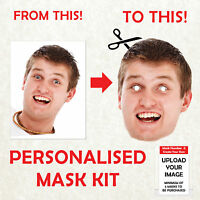 PERSONALISED CUSTOM FACE MASK KITS SEND A PIC & WE SUPPY ALL YOU NEED TO DIY!