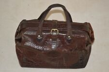 Mulberry Vintage Brown Congo Nile Leather Womens Doctors Carry Grab Handbag