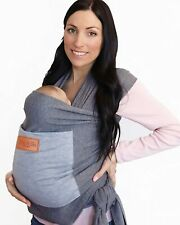 Baby Wrap Carrier with Front Pocket - Premium Cotton Baby Sling - One Size Fits