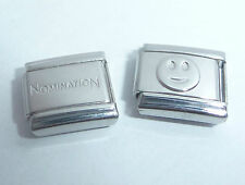 HAPPY FACE 9mm Italian Charm + 1x Genuine Nomination Classic link Smiley Smile