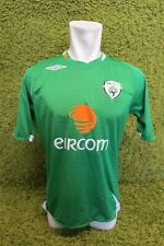 "2006 2007 2008 IRELAND HOME FOOTBALL SHIRT UMBRO GREEN EIRCOM S SMALL 39"" CHEST"
