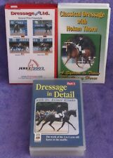 DRESSAGE 3 VHS LOT Classical In Detail Unltd RARE Equestrian Games Klimke Thorn