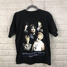 Backstreet Boys 2001 Black & Blue World Tour Graphic T Shirt Sz Medium BSB NWOT