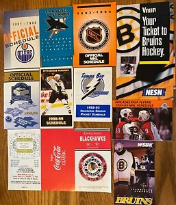 12 NHL TEAM SCHEDULES TORONTO PITTSBURGH BOSTON CHICAGO SAN JOSE others LOOK