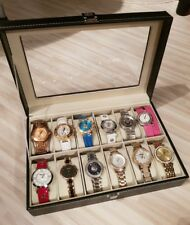 12 Slots Watch Box Watches Display Storage Box Case Jewelry Organizer Holder