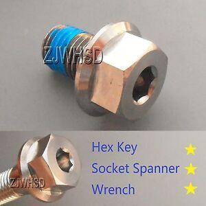 M10 x 1.25 x 15 Titanium Ti Screw Bolt Socket Cap Hexagon Hex Flange Head +Blue