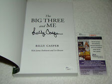 Billy Casper Signed Paperback Book The Big Three And Me JSA #T88872 Golf PGA