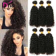 100% Virgin Kinky Curly Hair Weave Peruvian Human Hair Extensions 3 Bundles 300g