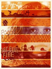 ARCADE FIRE SPRING TOUR 2011 POSTER #2 LIMITED EDITION