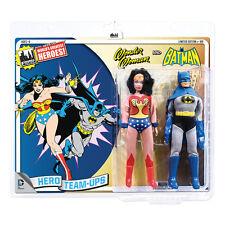 DC Comics Mego Style 8 Inch Retro Figure Two-Packs: Wonder Woman & Batman