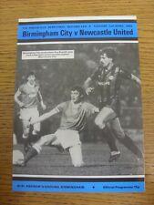 02/04/1985 FA Youth Cup Semi-Final: Birmingham City Youth v Newcastle United You