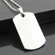 Ball Bead Army Mens Necklace F5X6 Military Dog Tag Stainless Steel Pendant