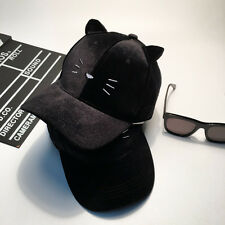New meow cat embroidery ears baseball cap truck hat korean fashion cute kawaii
