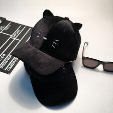 New meow cat embroidery ears baseball cap truck hat korean fashion cute kawaii