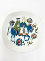 Saga Vintage FIGGJO FLINT NORWAY Norske Design Handpainted Plates Set of 4