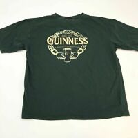 Guinness T Shirt Men's 2XL XXL Short Sleeve Dark Green Crew Neck Casual Cotton