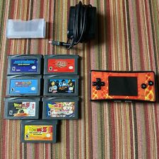 Nintendo Game Boy Micro Console - Orange/Yellow Faceplate, 7 Games & Charger