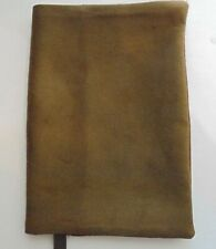 Fabric Paperback Book Cover Standard Book Sz Faux Suede Fabric Brown