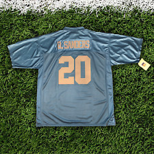 BARRY SANDERS #20 BLUE AUTHENTIC THROWBACK JERSEY