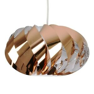 Copper Twist Pendant Shade Turbine Effect Style Interior Lighting Ceiling LED