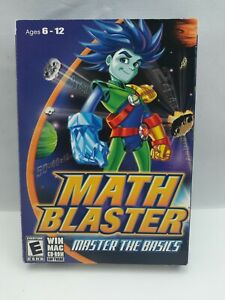 Math Blaster Master the Basics PC CD learn to add subtract multiply robots game!