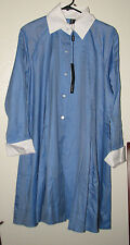 Ravel tunic top, Montreal design, blue herringbone soft cotton tunic NWT